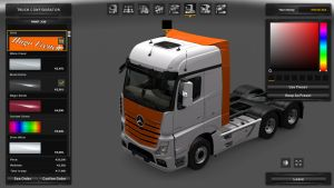 Orange & White Skin for Mercedes Benz