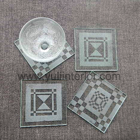 Set of our Geometric Design, Glass Coasters, Home Improvement, Nigeria