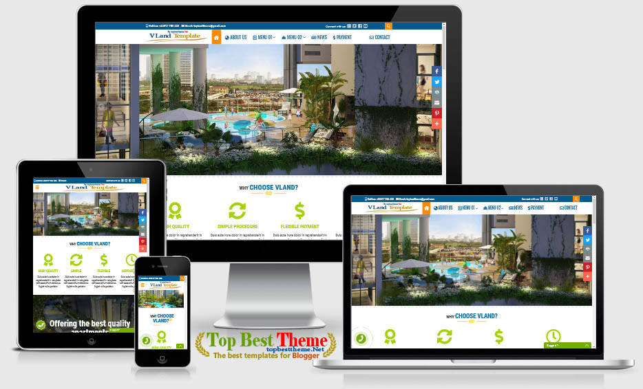 VLand Blogger Template for Real Estate