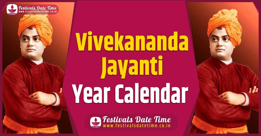 Vivekananda Jayanti Year Calendar