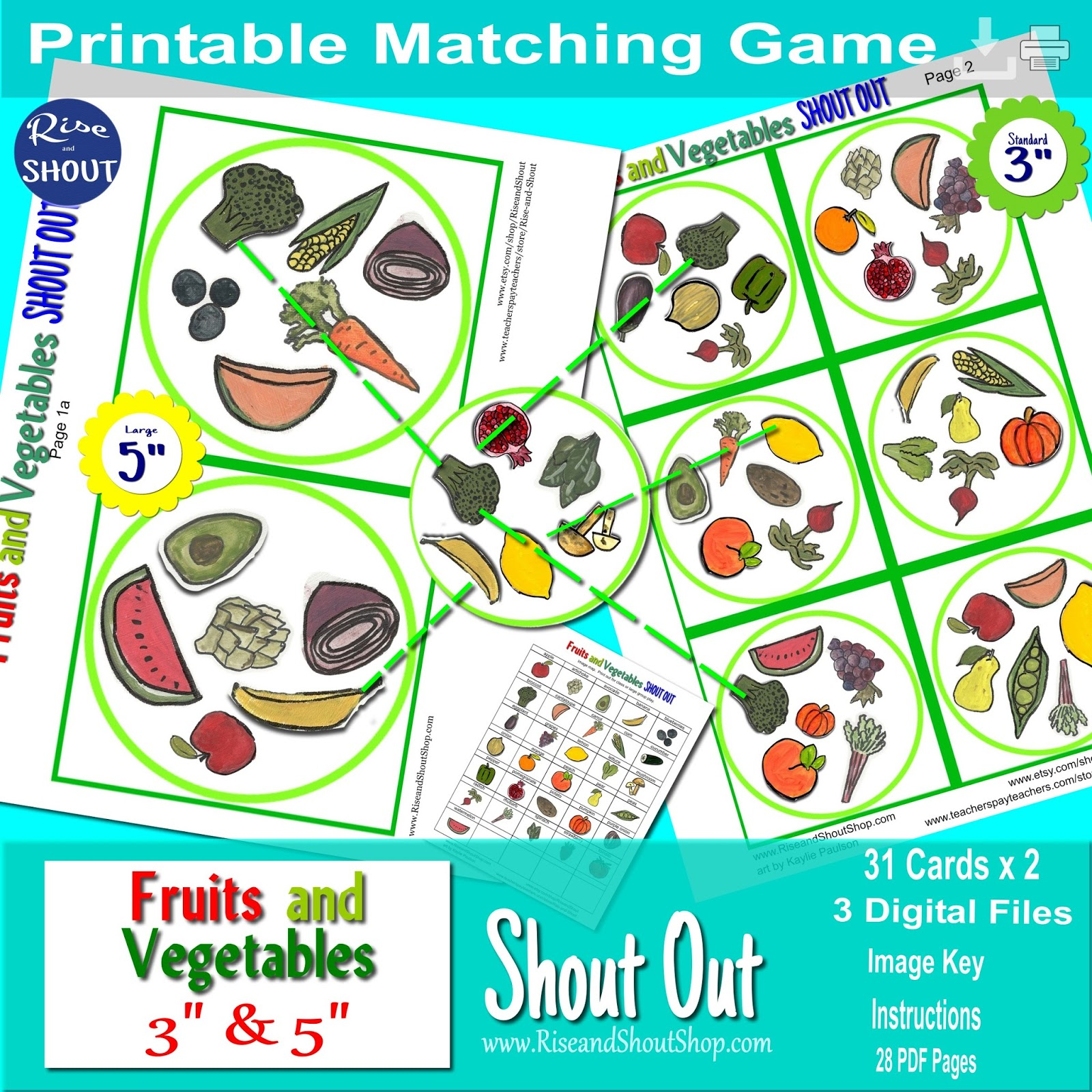 ff25fe4bc528b Rise and Shout: Fruit and Vegetable Shout Out and FREEBIE