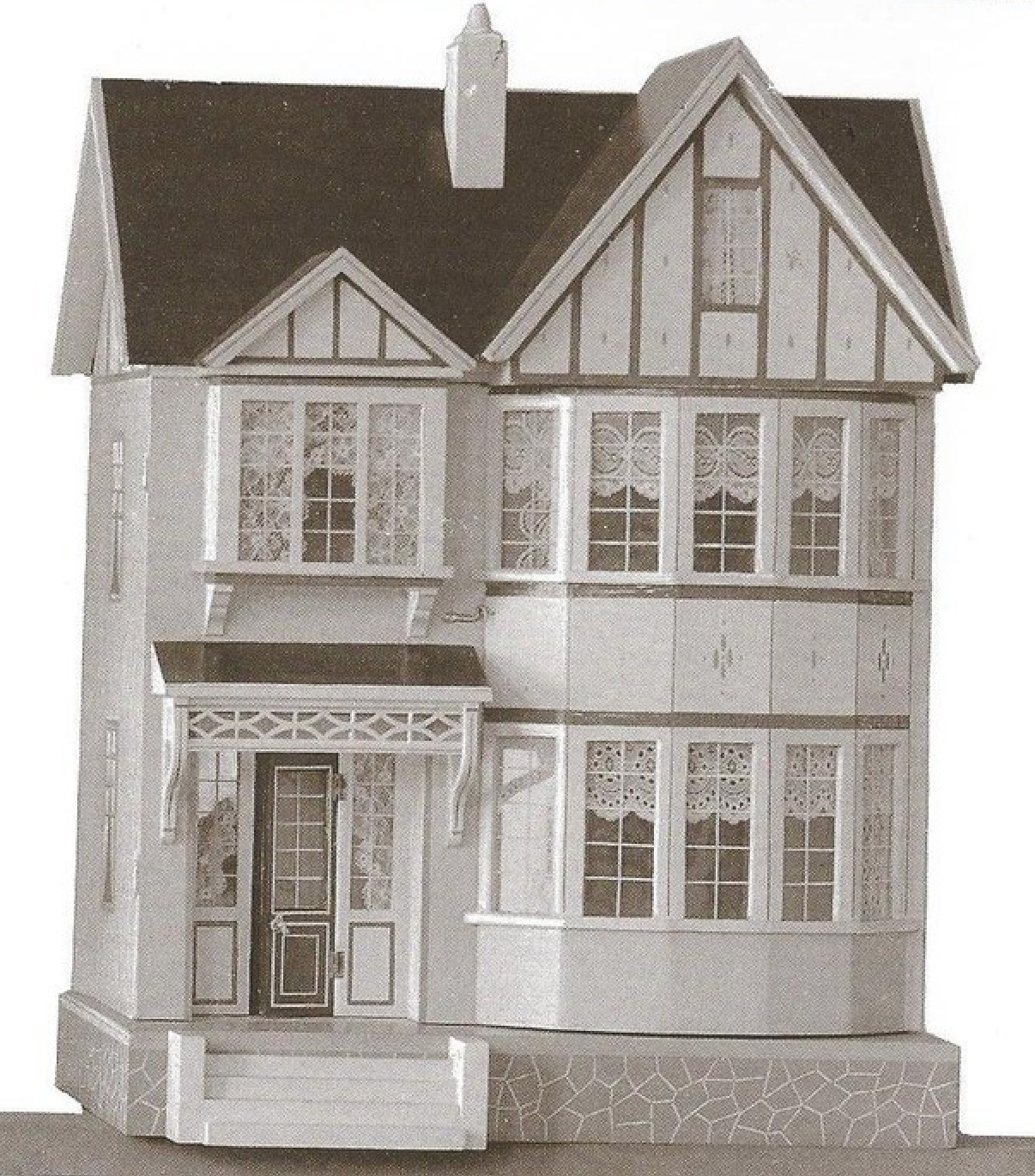 Susan 39 s mini homes red roof and bay window gottschalk - Houses with bay windows ...