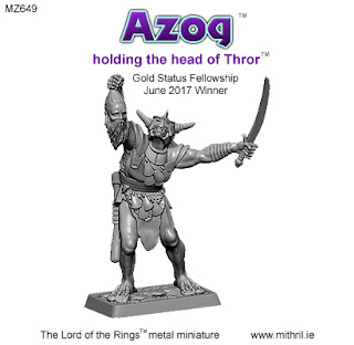 Azog with the head of Thror figure. MZ649
