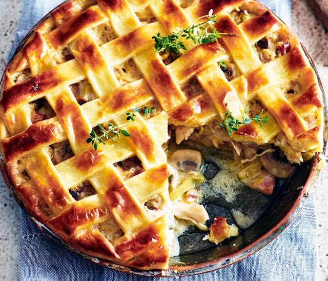 Chicken, Pancetta And Mushroom Pie Recipe