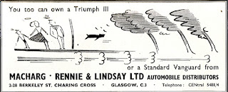 1957 advert for Macharg Rennie and Lindsay Ltd
