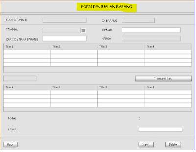 Membuat Form Penjualan pada Aplikasi Penjualan dengan Java Netbeans