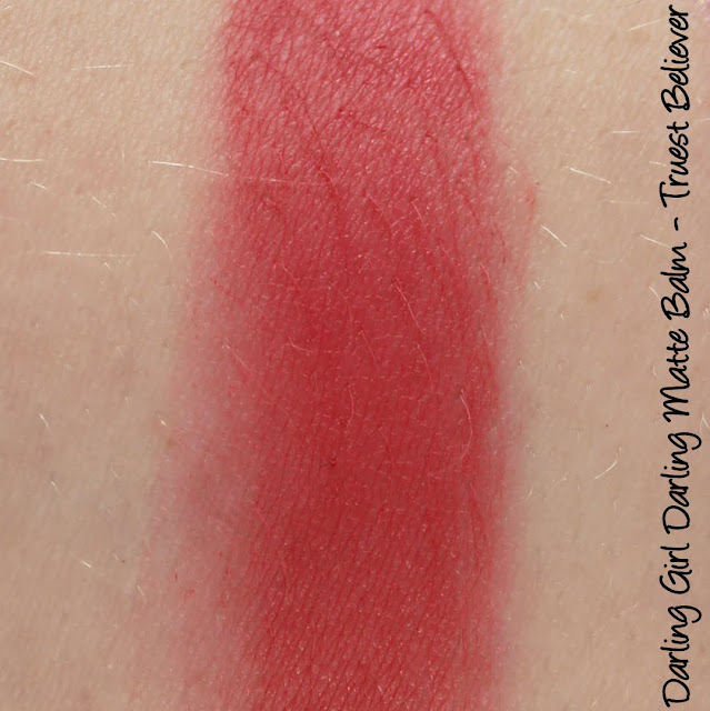 Darling Girl Darling Matte Balm - Truest Believer Lipstick Swatches & Review