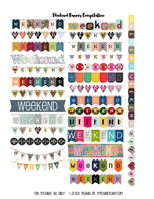 Weekend Banner Compilation on myplannerenvy.com
