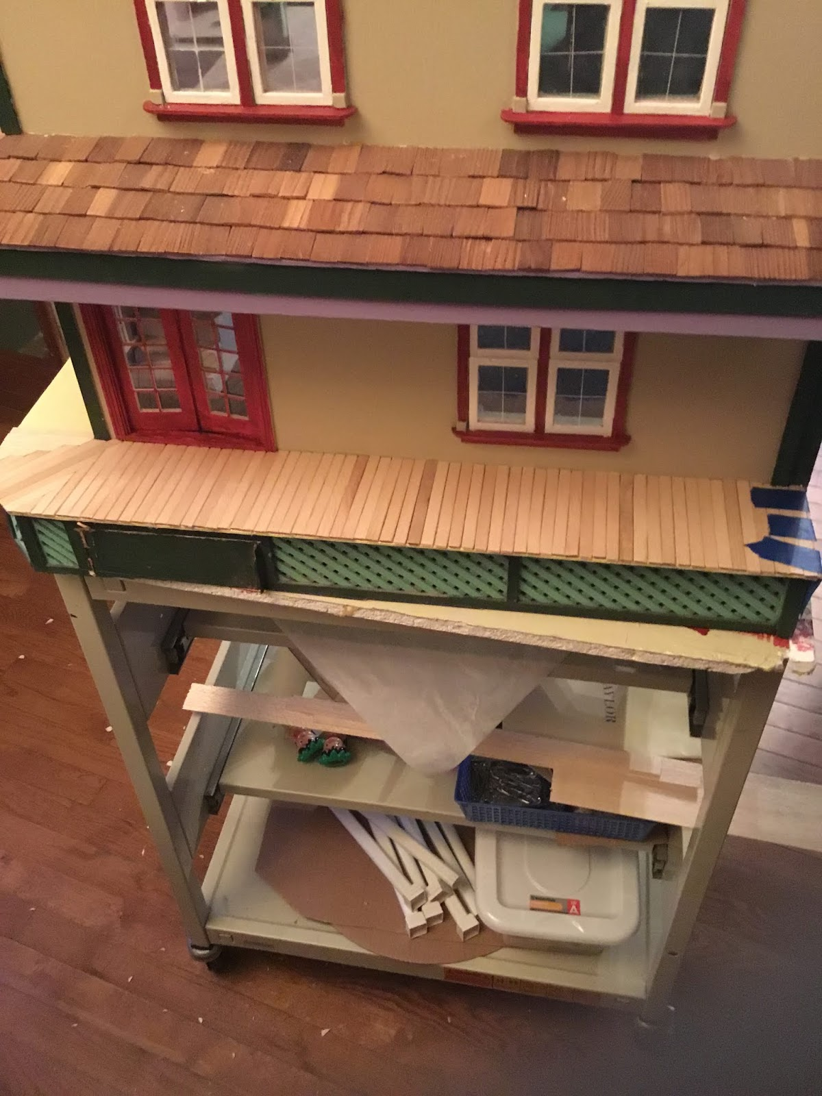 That S So Gay Putting A Wooden Floor On A Porch For A Dollhouse