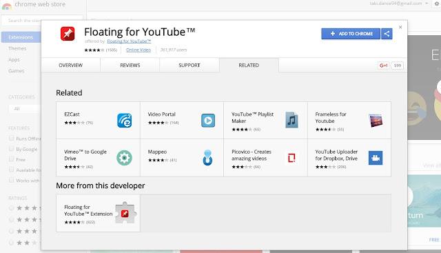 Floating Youtube