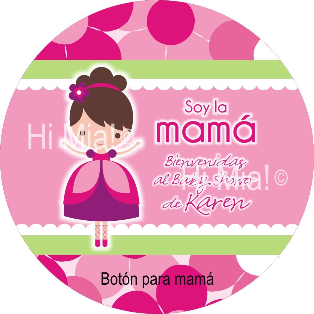 Hi Mia!: Botones Personalizados Y Etiquetas Para Baby Shower