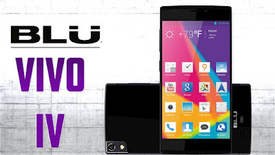 BLU Vivo IV Specifications - LAUNCH Announced 2014, May  Also known as BLU D970L DISPLAY Type Super AMOLED capacitive touchscreen, 16M colors Size 5.0 inches (~67.7% screen-to-body ratio) Resolution 1080 x 1920 pixels (~441 ppi pixel density) Multitouch Yes Protection Corning Gorilla Glass 3 BODY Dimensions 145.1 x 70.2 x 5.5 mm (5.71 x 2.76 x 0.22 in) Weight 129 g (4.55 oz) SIM Micro-SIM PLATFORM OS Android OS, v4.2.2 (Jelly Bean), upgradable to v4.4.2 (KitKat) CPU Octa-core 1.7 GHz Cortex-A7 Chipset Mediatek MT6592 GPU Mali-450MP4 MEMORY Card slot No Internal 16 GB, 2 GB RAM CAMERA Primary 13 MP, autofocus, LED flash Secondary 5 MP Features Geo-tagging, face detection, panorama, HDR Video 1080p@30fps NETWORK Technology GSM / HSPA 2G bands GSM 850 / 900 / 1800 / 1900 3G bands HSDPA 850 / 1900 / 2100 Speed HSPA 21.1/5.76 Mbps GPRS Yes EDGE Yes COMMS WLAN Wi-Fi 802.11 a/b/g/n/ac, dual-band, hotspot NFC Yes GPS Yes, with A-GPS USB microUSB v2.0 Radio FM radio Bluetooth v4.0 FEATURES Sensors Sensors Accelerometer, gyro, proximity Messaging SMS(threaded view), MMS, Email, Push Email, IM Browser HTML5 Java No SOUND Alert types Vibration; MP3, WAV ringtones Loudspeaker Yes 3.5mm jack Yes BATTERY  Non-removable Li-Po 2300 mAh battery Stand-by Up to 750 h (2G) / Up to 675 h (3G) Talk time Up to 24 h (2G) / Up to 12 h (3G) Music play  MISC Colors Black, White/Silver, White/Gold  - DivX/MP4/H.264 player - MP3/WAV/eAAC+ player - Document viewer - Photo/video viewer - Voice memo/dial