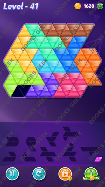 Block! Triangle Puzzle Master Level 41 Solution, Cheats, Walkthrough for Android, iPhone, iPad and iPod