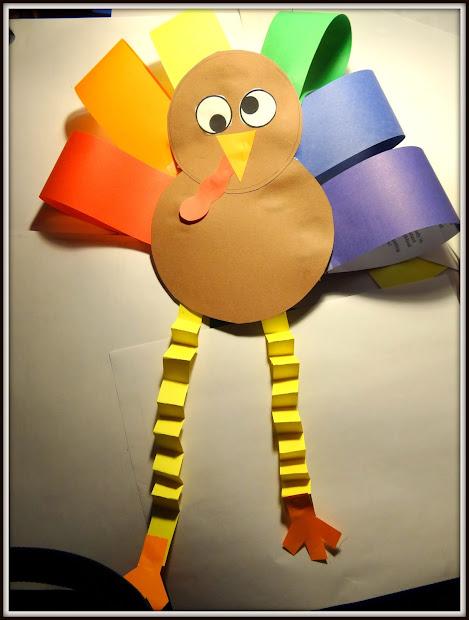 Patties Classroom Turkey Art Project Colored Paper