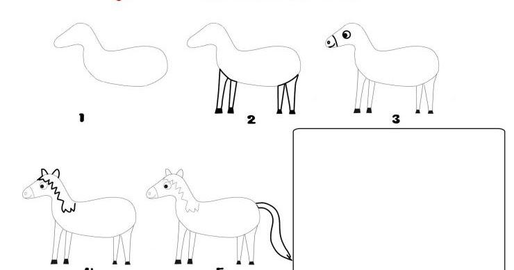 le blog de monsieur valancony  pour dessiner un cheval