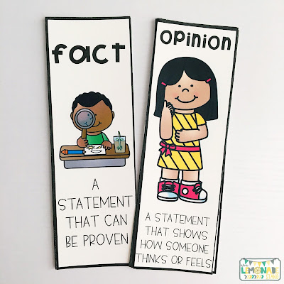 Fact and Opinion No Prep Printables and Activities | Hands-on fact and opinio activities, kids' crafts, no prep printables, fact and opinion posters, fact and opinion anchor chart, and so much more!  Read how I make fact and opinion super engaging for young learners!  education | art | fact and opinion sort