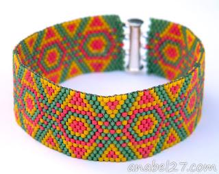 купить браслет из бисера ручной работы купить авторское украшение из бисера