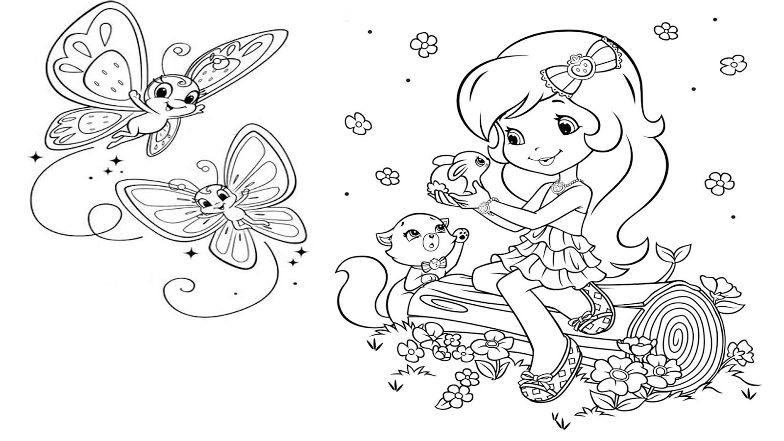 strawberry shortcake for kids coloring pages strawberry