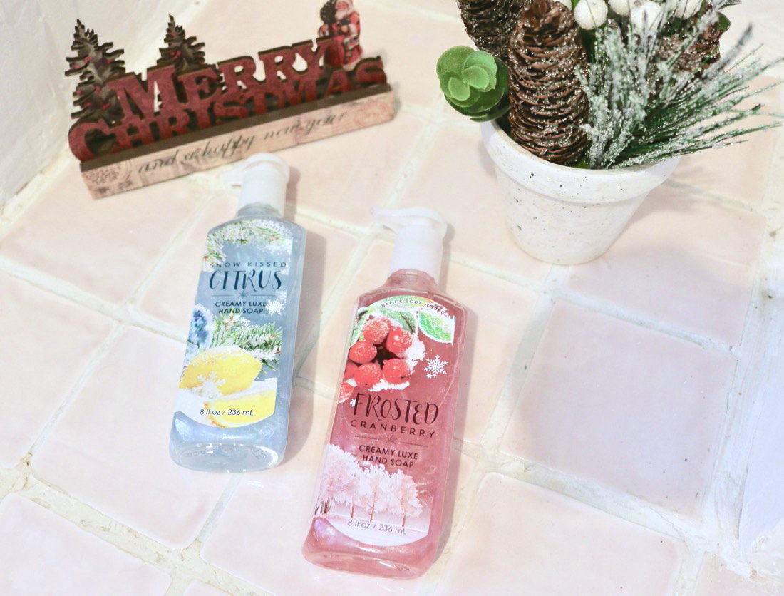Huge Bath & Body Works Christmas Haul Creamy Luxe Hand Soaps Snow Kissed Citrus & Frosted Cranberry