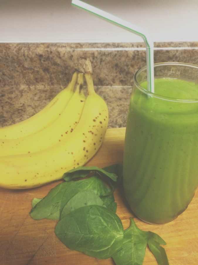 energizing mango banana green smoothie