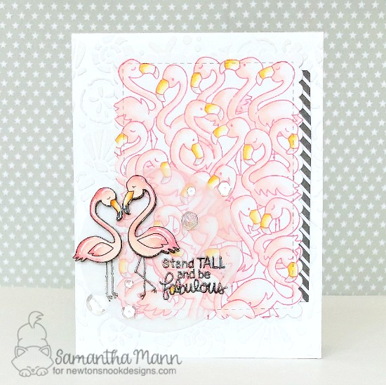 Crowd of Flamingos card by Samantha Mann | Flamingo Flock and Flirty Flamingos Stamp Sets by Newton's Nook Designs #newtonsnook #handmade