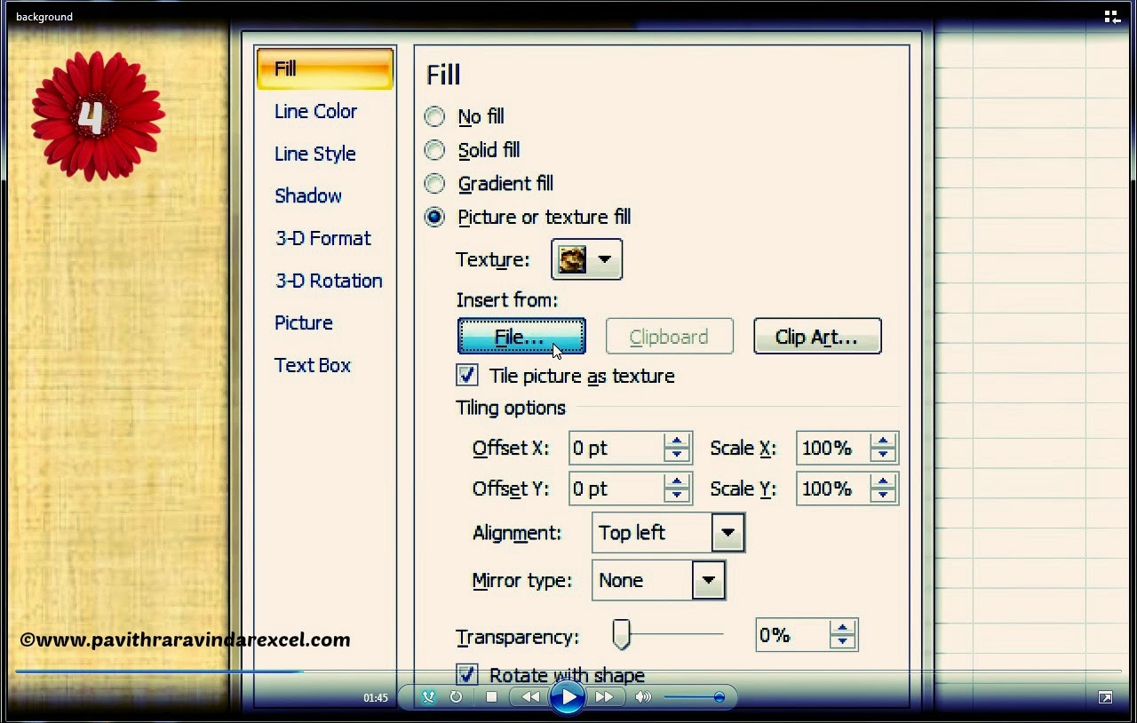 How To Change Your Excel Spreadsheet Background By Using Your Own Image How To Add A Custom