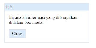 membuat modal box dengan css