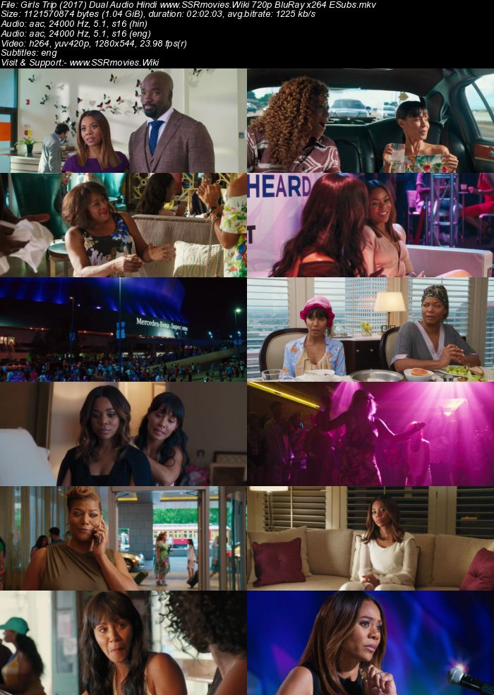 Girls Trip (2017) Dual Audio Hindi 480p BluRay x264 400MB ESubs Movie Download