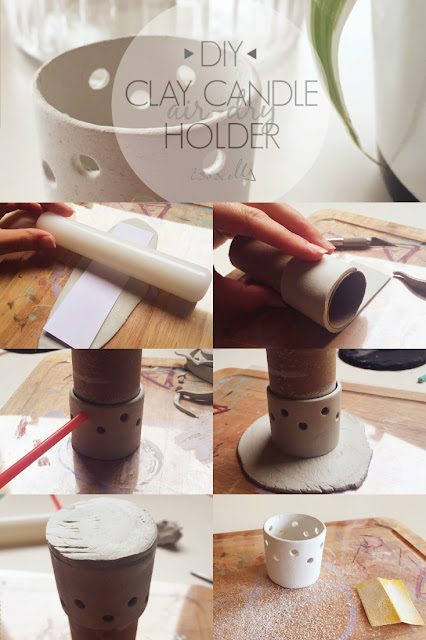 ISOSCELLA | DIY Clay Candle Holder