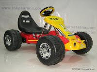 1 Mobil Mainan Aki Junior TR6628 GoKart dengan Kendali Jauh
