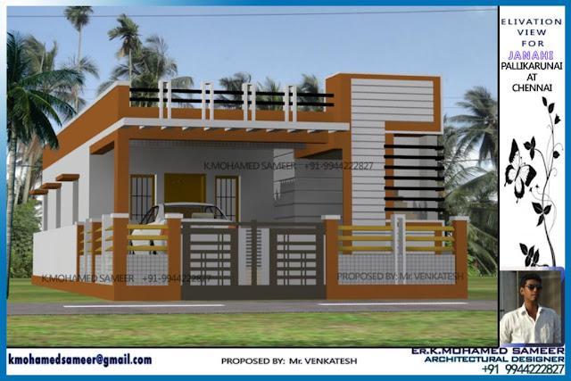 Single Floor Elevation Nadu : Tamilnadu style single floor home design thefloors