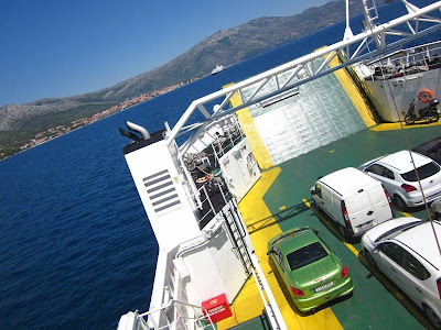 Ferry between Korkula and Orebic in Croatia