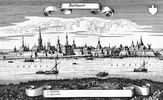 Matthäus Merian - Ansicht von Düsseldorf (1647)