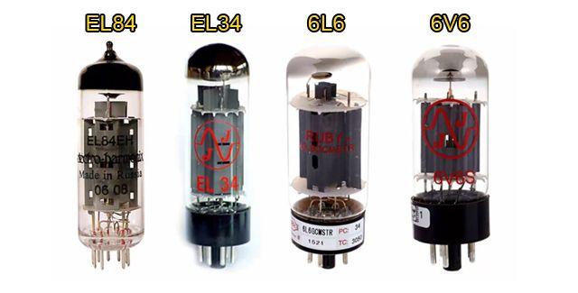 Diferentes Tipos de Válvulas de Potencia para Amplificador de Guitarra