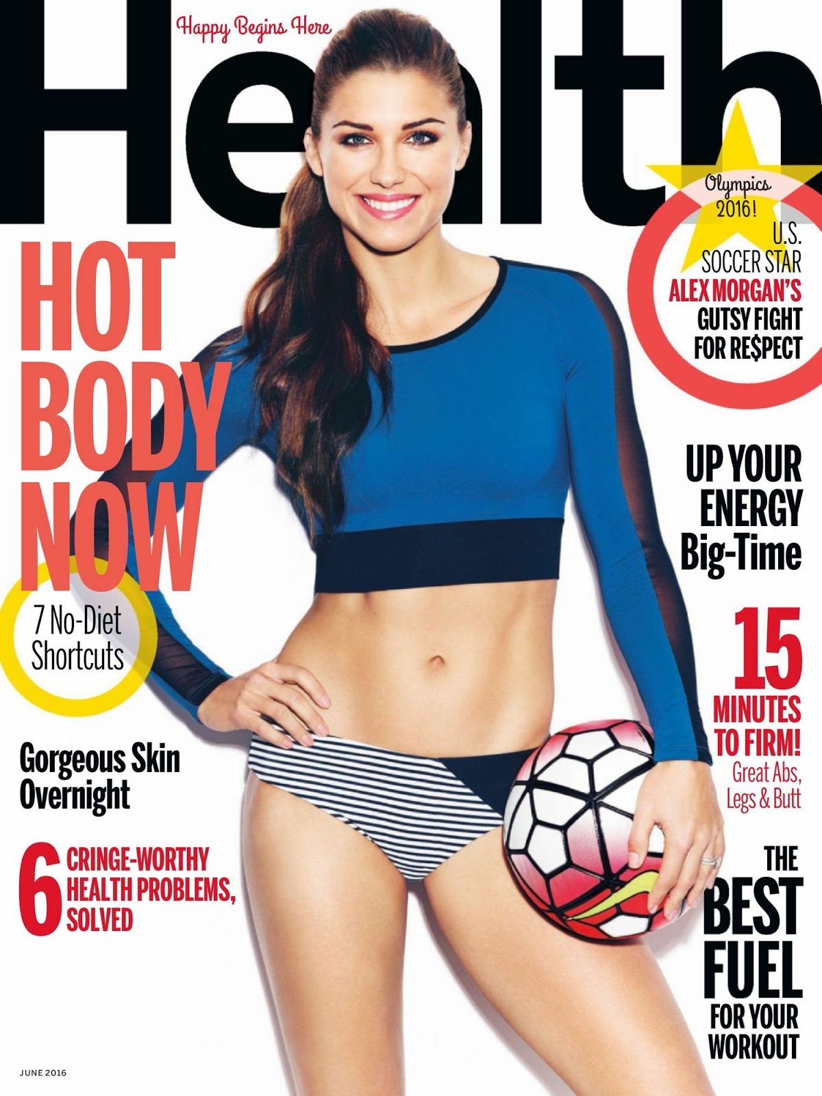 Alex Morgan covers Health Magazine June 2016