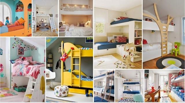 50+ Ιδέες διαμόρφωσης δωματίων για Κρεβάτια Κουκέτες