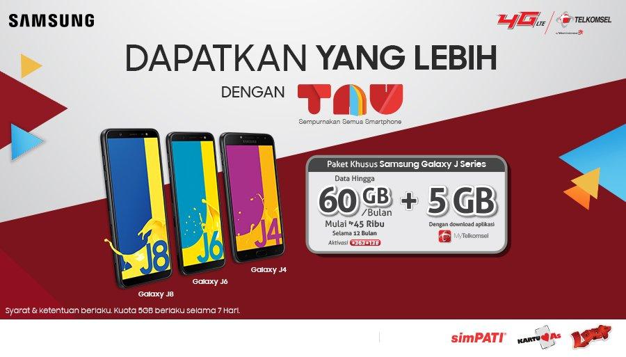 Telkomsel - Promo Samsung J Series & Paket TAU - Free Bonus 5GB Selama 7 Hari