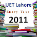 [pdf] UET lahore Entry Test Past Paper year 2011 free Download