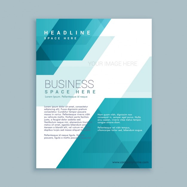 Polygonal shapes corporative brochure template Free Vector