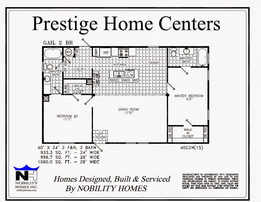 Four Bedroom Mobile Homes L 4 Bedroom Floor Plans 2