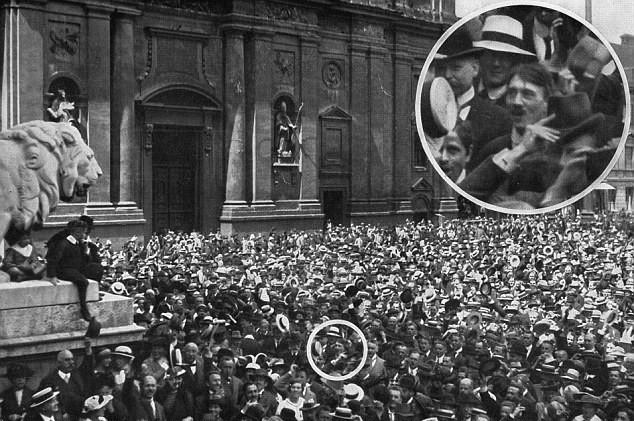 Adolf Hitler Odeonsplatz worldwartwo.filminspector.com