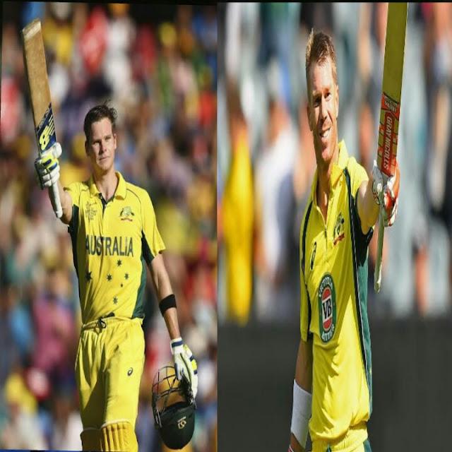 डेविड वॉर्नर और स्टीव स्मिथ को विश्व कप के लिए ऑस्ट्रेलिया टीम में शामिल किया गया