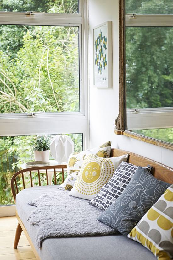 Interiors with a green view | Photo via Heart Home Magazine