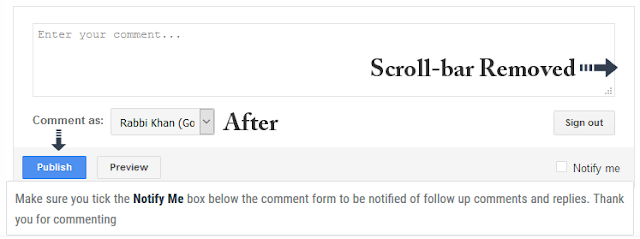 blogger comment with scrollbar