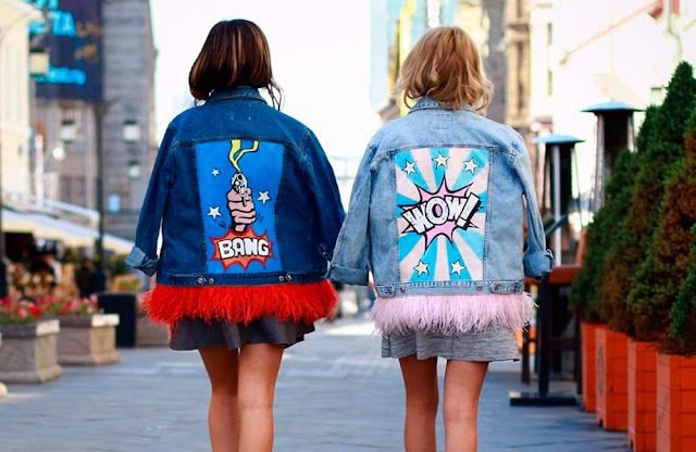 Jackets with back message