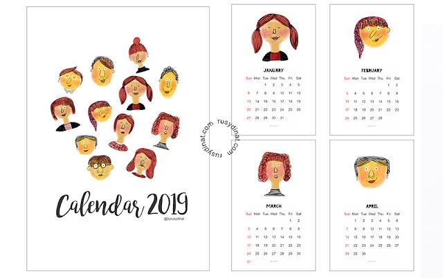 Free Printable Kalender 2019