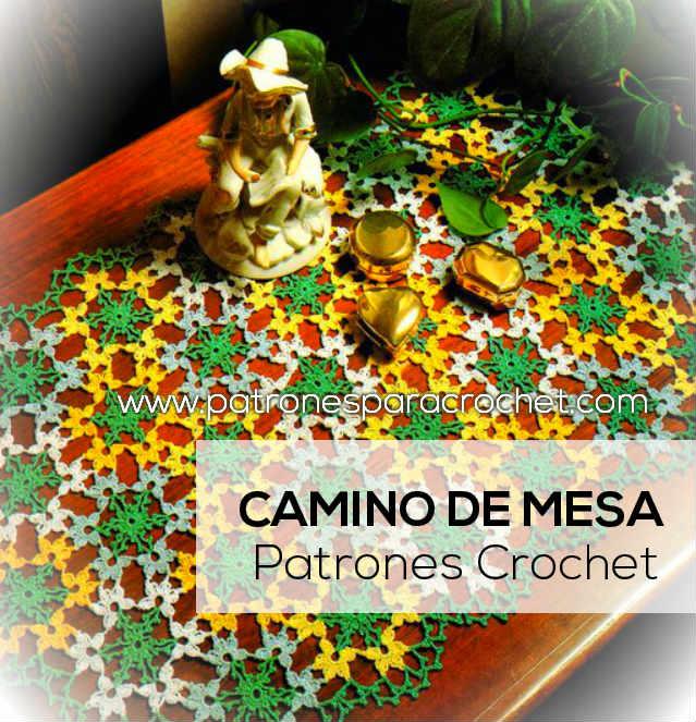 Camino de mesa multicolor al crochet / patrones y moldes | Patrones ...