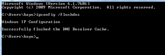 CARA FLUSH DNS DI MICROSOFT WINDOWS