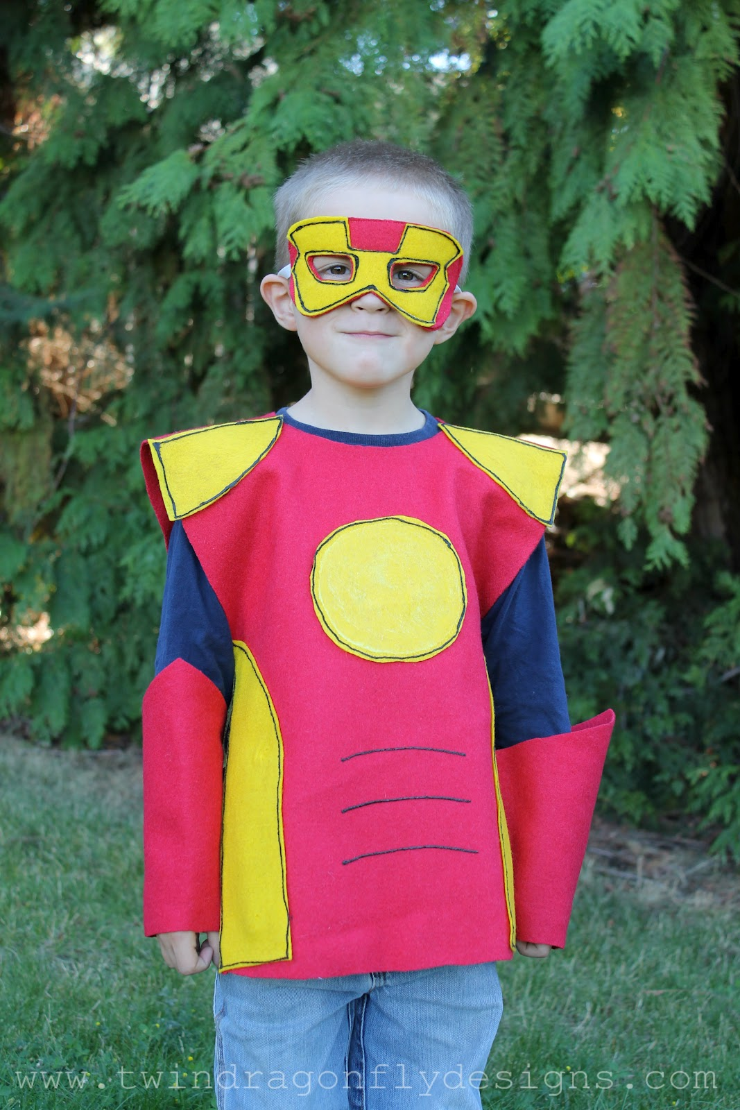 sc 1 st  Twin Dragonfly Designs & No Sew SUPER HERO COSTUMES Tutorial » Dragonfly Designs