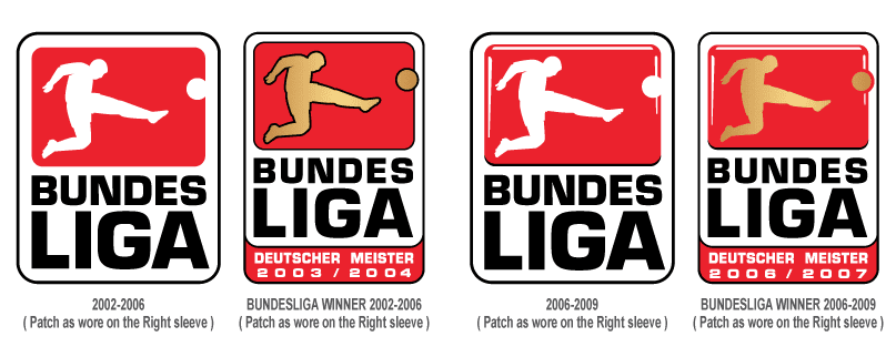 bundesliga logo 1997 2009 evolution timix patch bundesliga logo 1997 2009 evolution